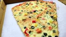 BIG PIZZA SLICE EATING CHALLENGE | Big Pizza Slice Eating Competition | Food Challenge