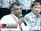 Bos AirAsia Tony Fernandes Hadiri Jumpa Pers