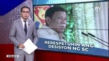 Pangulong #Duterte, rerespetuhin ang magiging desisyon ng SC sa isyu ng amnesty ni Trillanes