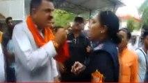 BJP MLA Rajkumar Thukral Abuses Police Woman in Rudrapur, Video Viral | Oneindia News