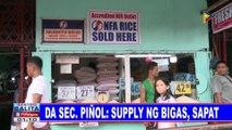 Sec. Piñol, tiniyak na magiging stable ang presyo at supply ng bigas sa Nobyembre; PhlRice, pinagsusumite ng mga programa para sa mga magsasaka