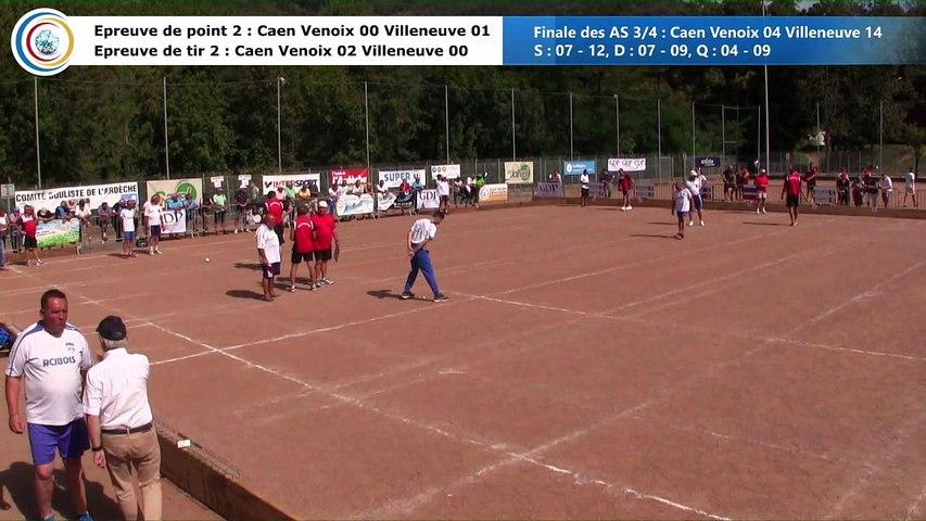 Epreuves de point et de tir, France AS 3/4, Caen Venoix contre Villeneuve, Le Cheylard 2018
