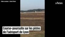 Course-poursuite sur les pistes de l'aéroport de Lyon