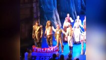 'Frozen' Actor Snatches Pro-Trump Banner From Audience Member
