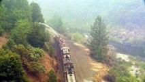 Des pompiers ingénieux stoppent un incendie de forêt à bord d'un train en Californie