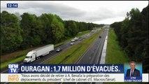 Des embouteillages à perte de vue sur les routes américaines pour fuir l'ouragan Florence