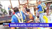 Nakahambalang na basketball courts sa Quezon City, binaklas ng MMDA