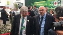 Le ministre stéphane Travert arrive au Space de Rennes