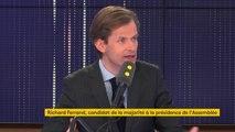 """Présidence de l'Assemblée nationale: Richard Ferrand """"est une courroie de transmission de l'Elysée, ni plus ni moins"""", estime Guillaume Larrivé"""