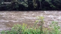 Creek overflows in Maryland county as Florence moves towards Carolinas