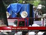 Habib Rizieq Pimpin Demo FPI, Ahok Surati Menkumham Bubarkan FPI