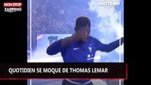Quotidien se moque de Thomas Lemar, qui s'est ennuyé au Stade de France (vidéo)