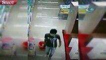 Antalya'da sucukları iç çamaşına gizleyen hırsız kameraya takıldı