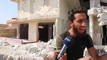 عشرات البراميل المتفجرة على بلدة الهبيط وإعلانها بلدة منكوبةتقرير: جميل الحسن#أورينت #سوريا