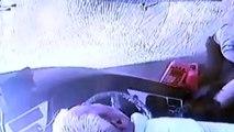 Otomobil ile özel halk otobüsünün çarpıştığı kazanın güvenlik kamerası görüntüleri - MANİSA
