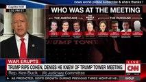 BREAKING NEWS TRUMP RIPS COHEN DENIES HE KNEWS OF TRUMP TOWER MEETING. CNN