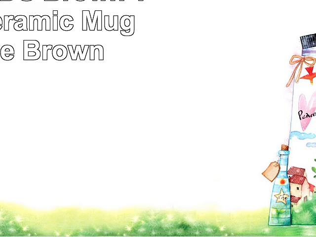 LINE FRIENDS Brown Two Face Ceramic Mug 12 Ounce Brown