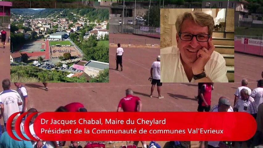 Interview Dr Jacques Chabal, Maire du Cheylard, France Quadrette Vétérans, Le Cheylard 2018