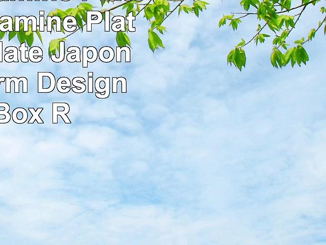Round Melamine Plate Black Melamine Plate  8 Inch Plate  Japonais Freeform Design  10ct