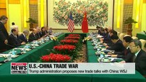 U.S. proposes new trade talks with China: WSJ