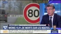 """Forte baisse du nombre de morts sur les routes en août: Barbe pense """"qu'il y a un lien"""" avec la limitation à 80km/h"""