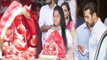 Salman Khan's sisters Arpita Khan Sharma & Alvira welcome Ganpati Bappa home; UNCUT VIDEO  FilmiBeat