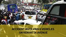 Accident involving 6 vehicles on Kenyatta Avenue