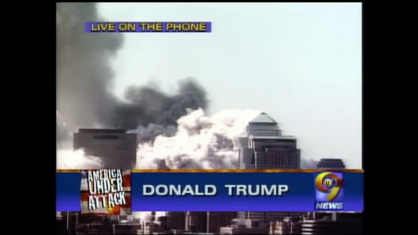 "Donald Trump [2001]:  ""Only Explosives Could Have Brought Down WTC Towers"" [mark 5:00]"