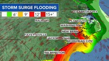 Hurricane Florence's severe storm surge to inundate coast