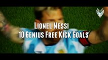 Lionel Messi - Top 10 GENIUS Free Kick Goals Ever