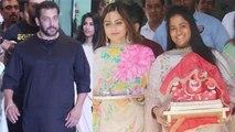 Salman Khan visits Arpita Sharma & Aayush Sharma's house for Ganpati Celebrations | FilmiBeat