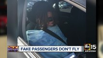 Woman cited by DPS for driving in HOV lane with mannequin