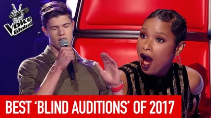 BEST BLIND AUDITIONS OF 2017   The Voice Rewind