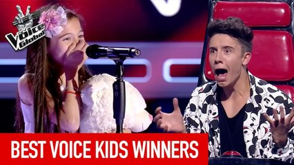BEST WINNERS from all around the world in The Voice Kids [PART 4]