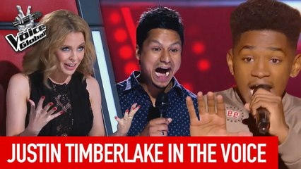 JUSTIN TIMBERLAKE in The Voice   The Voice Global