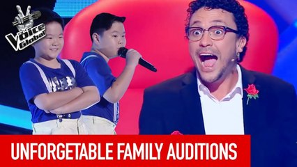 SURPRISING  FAMILY Blind Auditions in The Voice (Kids)