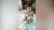 Boy Finds His Missing Dog