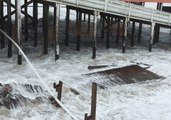 Hurricane Florence Batters North Carolina Pier