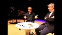 Livres dans la Boucle Besançon Michel Onfray en création mondiale avec son ami compositeur Eric Tanguy