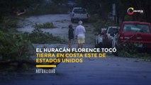 El huracán Florence tocó tierra en costa este de Estados Unidos