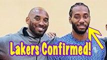 Kawhi Leonard FINALLY Smiling Standing Next To Kobe: Move To Lakers Confirmed?