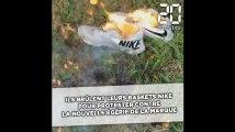Des Américains brûlent leurs baskets Nike pour protester contre leur nouvelle égérie