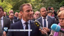 """Loto du patrimoine: à Bougival, Emmanuel Macron salue """"la mission portée"""" par Stéphane Bern"""