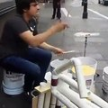 Mexican Street Drummer With A Unique Groove