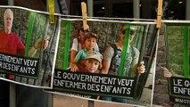 مظاهرات في بلجيكا ضد وضع مهاجرين غير شرعيين مع أطفالهم في مراكز احتجاز