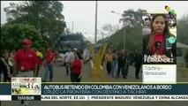 Cruzan la frontera con Colombia autobuses con venezolanos repatriados