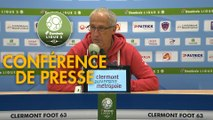Conférence de presse Clermont Foot - AJ Auxerre (2-0) : Pascal GASTIEN (CF63) - Pablo  CORREA (AJA) - 2018/2019