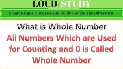 What is Whole Number ( Learn with Example ) | Whole Number