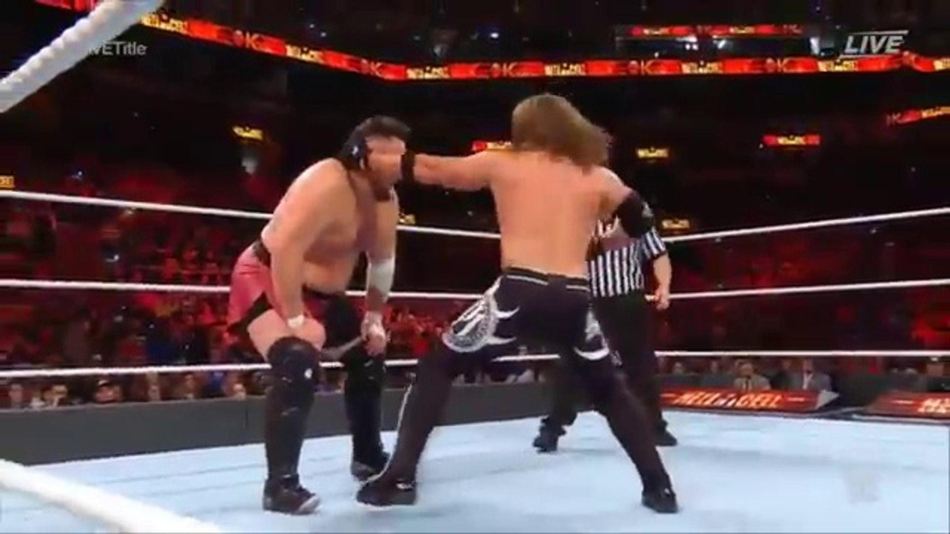 WWE Hell in a cell 2018 - AJ Styles Vs  Samoa Joe  WWE Championship Match