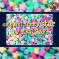 art cafe//How to make lucky paper stars//Origami Lucky Star Tutorial ⭐️ Easy DIY ⭐️ Paper Kawaii